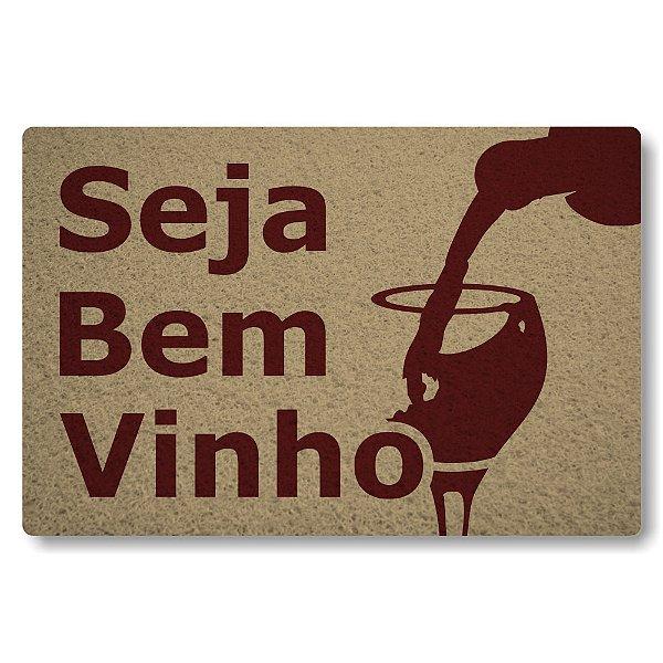 Tapete Capacho Seja Bem-Vinho - Bege