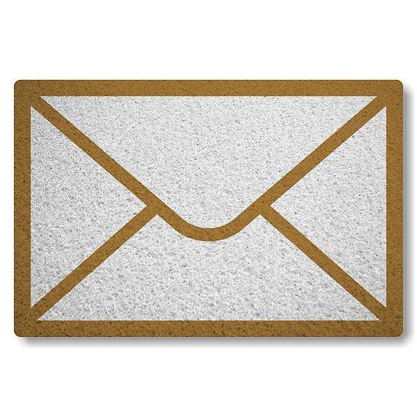 Tapete Capacho Envelope de Carta - Branco