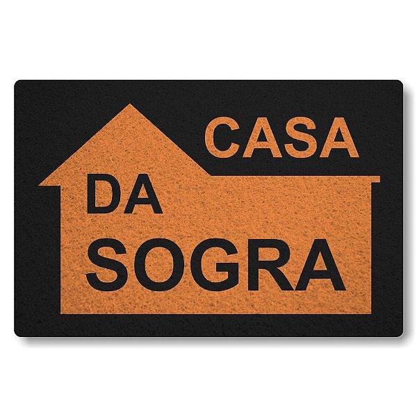 Tapete Capacho Casa da Sogra - Preto