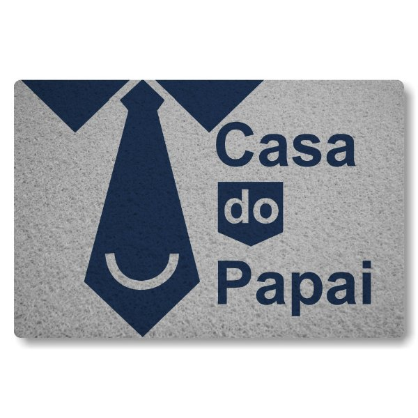 Tapete Capacho Casa do Papai - Prata