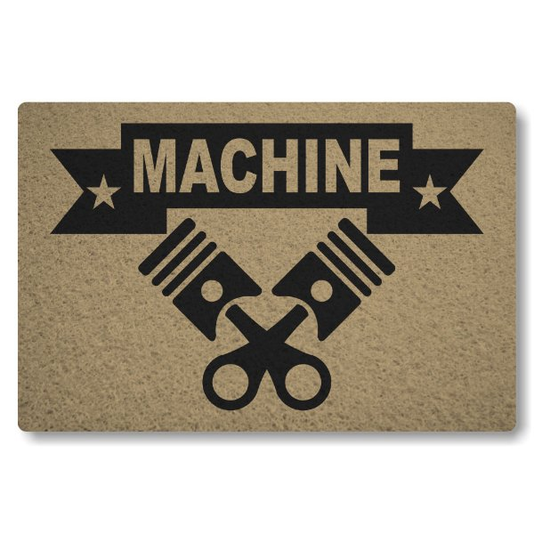 Tapete Capacho Machine - Bege
