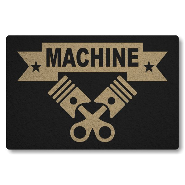 Tapete Capacho Machine - Preto