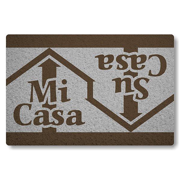 Tapete Capacho Mi-Casa Su-Casa - Prata