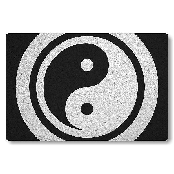 Tapete Capacho Yin Yang - Bem e Mal - Preto