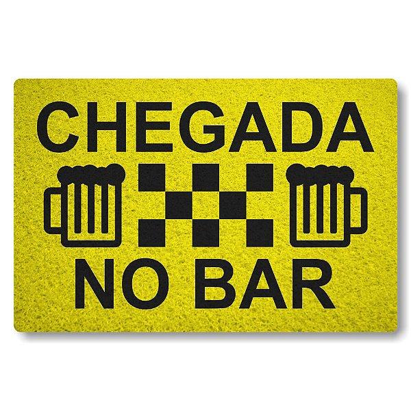 Tapete Capacho Chegada no Bar - Amarelo