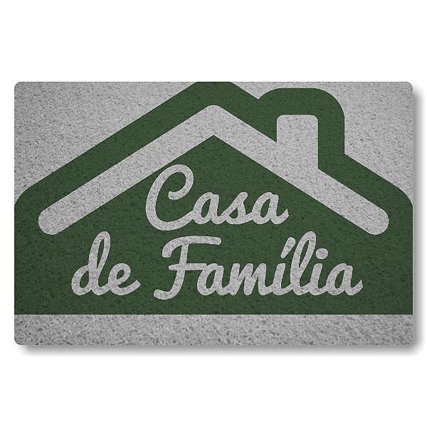 Tapete Capacho Casa de Familia - Verde Musgo