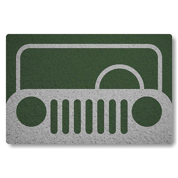 Tapete Capacho Frente de Jeep - Verde Musgo