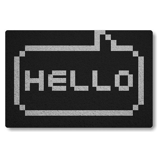Tapete Capacho Hello - Preto
