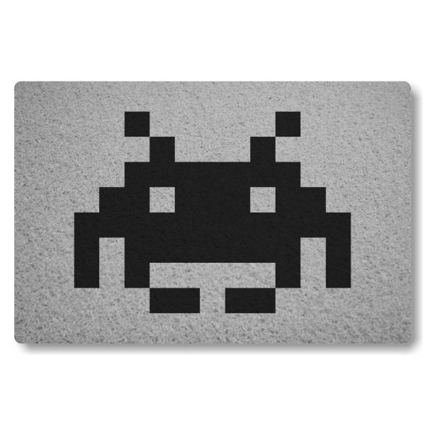 Tapete Capacho Space Invader II - Prata