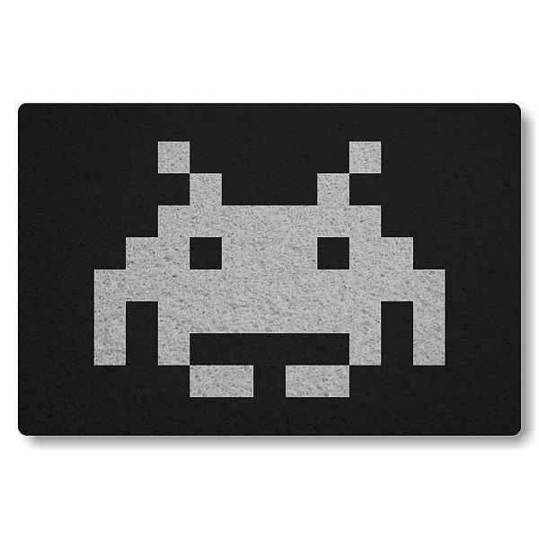 Tapete Capacho Space Invader II - Preto