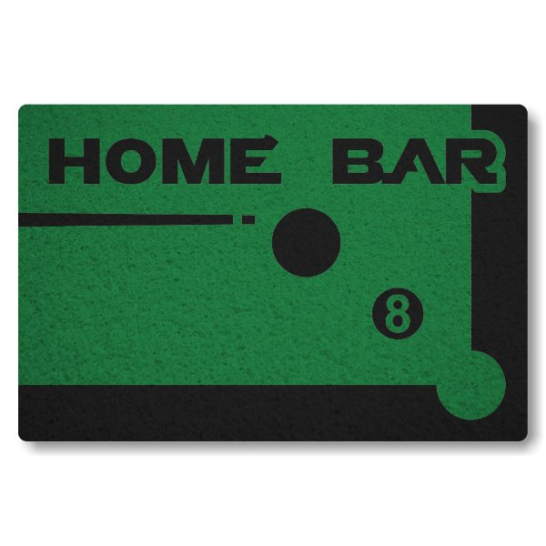 Tapete Capacho Home Bar - Verde Bandeira