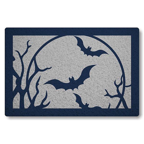 Tapete Capacho Morcegos - Prata