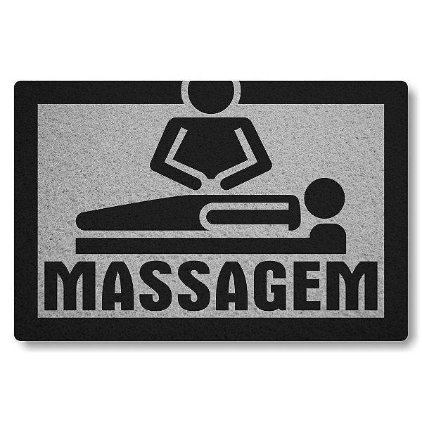 Tapete Capacho Massagem - Prata