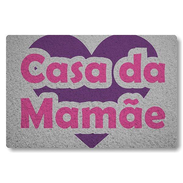 Tapete Capacho Casa da Mamae - Prata