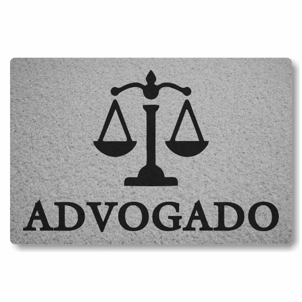 Tapete Capacho Advogado - Prata