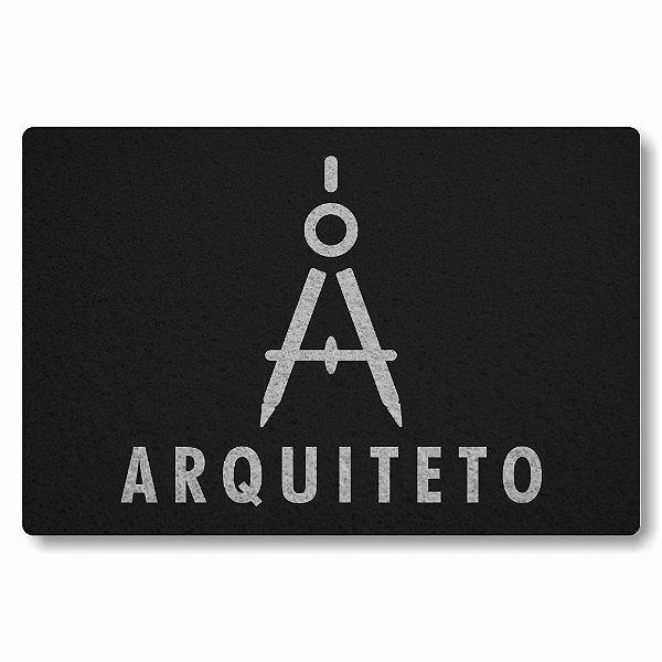 Tapete Capacho Arquiteto - Preto
