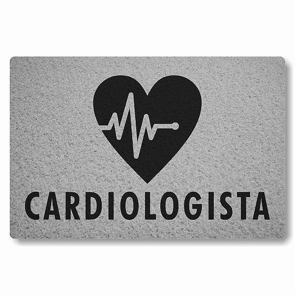 Tapete Capacho Cardiologista - Prata