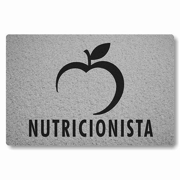 Tapete Capacho Nutricionista - Prata