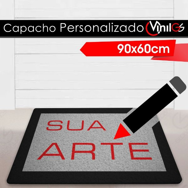 Tapete Capacho Personalizado Vinil-GS - 90x60cm