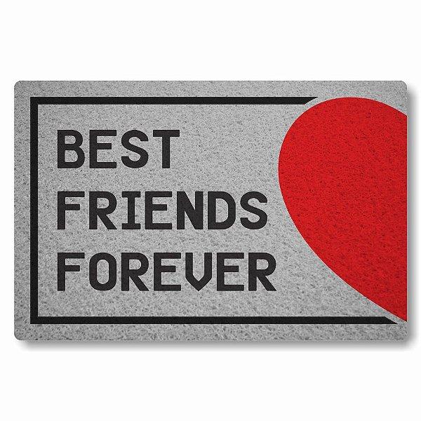 Tapete Capacho Best Friends Forever Coração Direito