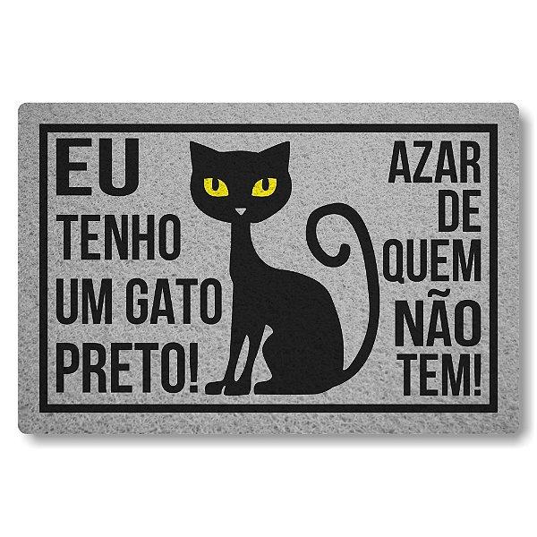 Capacho Linha Tapets Eu Tenho um Gato Preto