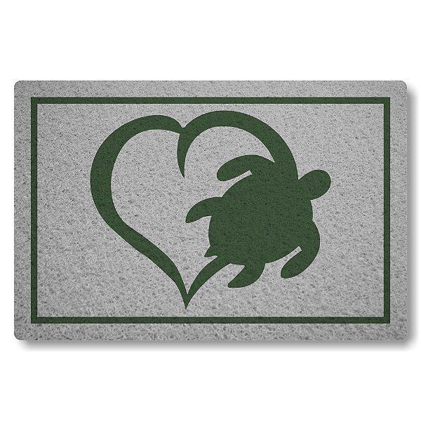 Capacho Linha Tapets Amo Tartarugas
