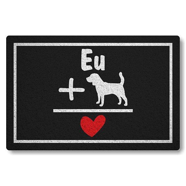 Capacho Linha Tapets Eu Mais Dog Igual Amor