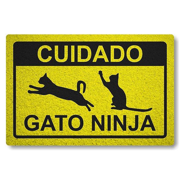 Capacho Linha Tapets Gato Ninja