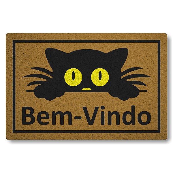 Capacho Linha Tapets Bem-Vindo Gato