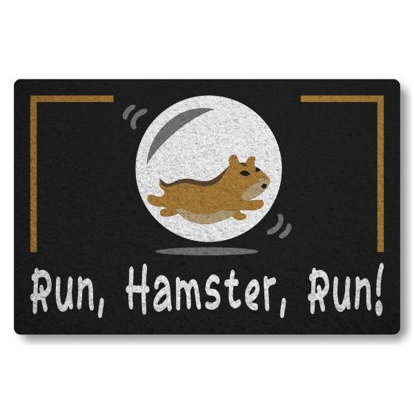 Capacho Linha Tapets Run Hamster Run