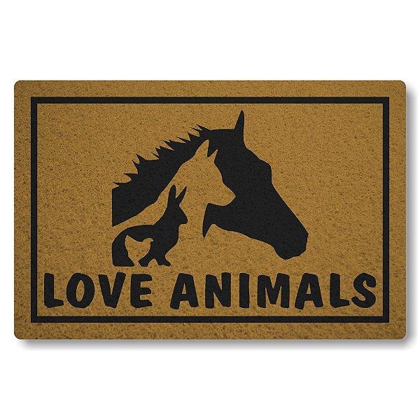 Capacho Linha Tapets Love Animals
