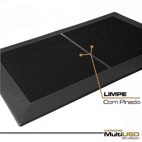 Capacho MultiUSO 61x40cm KIT Limpeza - 1 Bandeja e 2 Pinado