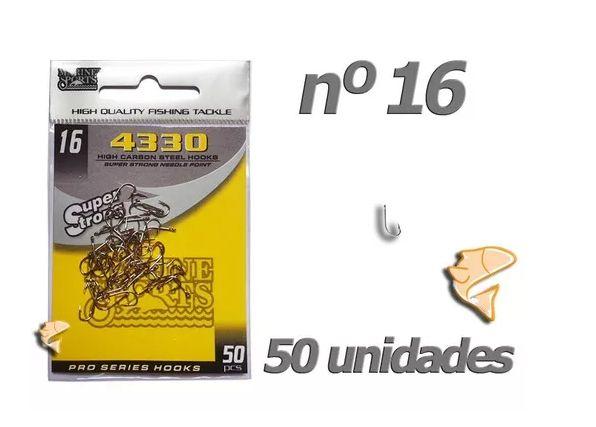 Anzol Marine Sports 4330 Nº 16 Envelope Com 50 Unid - Anzois