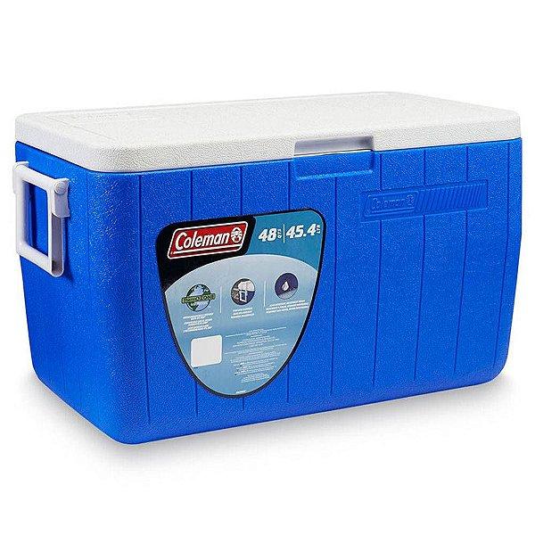 Caixa Térmica Coleman Azul 45.4 L (48 Qt)