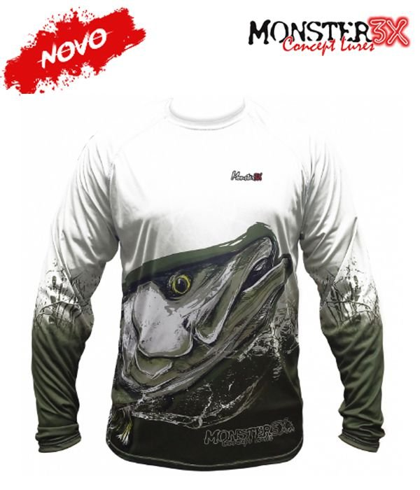 Camiseta para pesca Monster 3X NEW Fish Collection ROBALO - Masculina