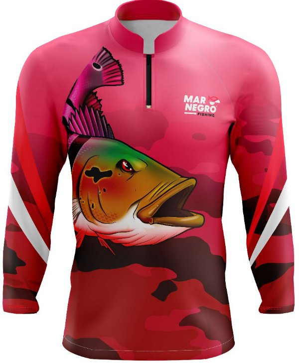 Camiseta Feminina para Pesca - com proteção solar UV+ UVB