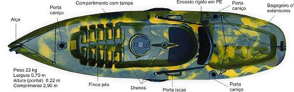 Caiaque CAIACKER - NEW FOCA FISHING- 2 PESSOAS
