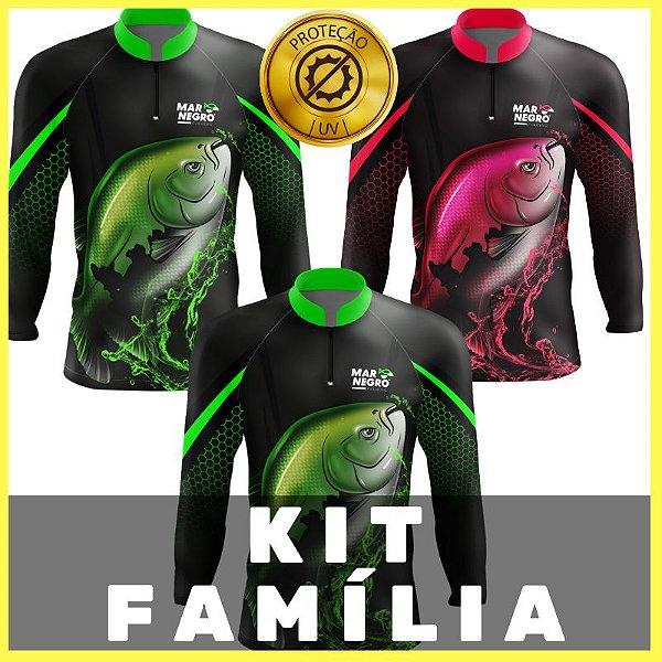 KIT FAMILIA - 2 ADULTO + 1 INFANTIL