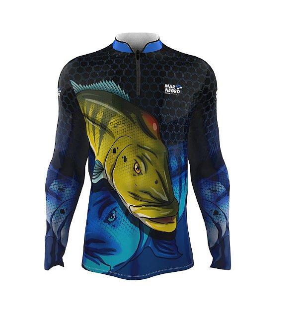 Camiseta para Pesca - Proteção Solar 50+ UV - Tucunaré COLMÉIA Azul