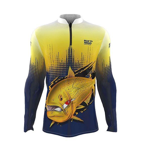 Camiseta para Pesca - Proteção Solar 50+ UV - Dourado