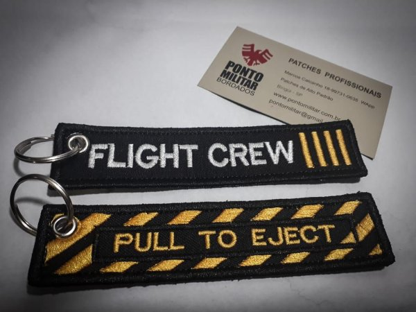 PATCH CHAVEIRO- FLIGHT CREW E PULL TO EJECT