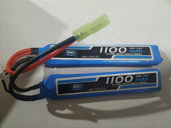 Bateria Lipo 7.4  leão  -1110 mha.