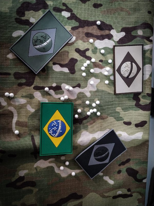 Bandeira do Brasil emborrachada em 3d Airsoft