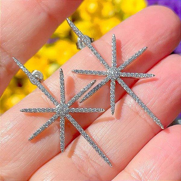 Brinco Star Cravejado Silver