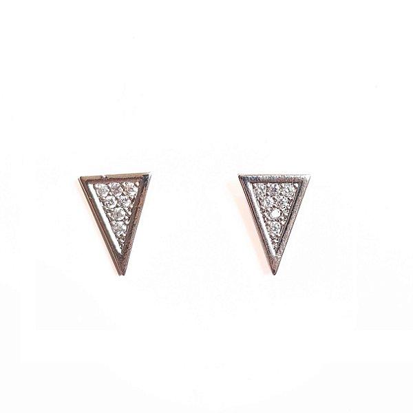 Brinco Midi Triangular Silver