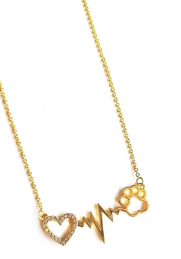 Colar i Love Pet Gold