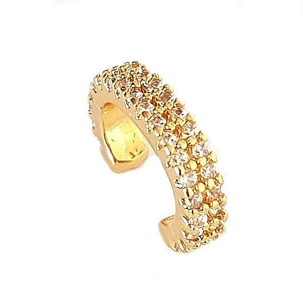 Piercing 2 Fileiras cravejadas Gold