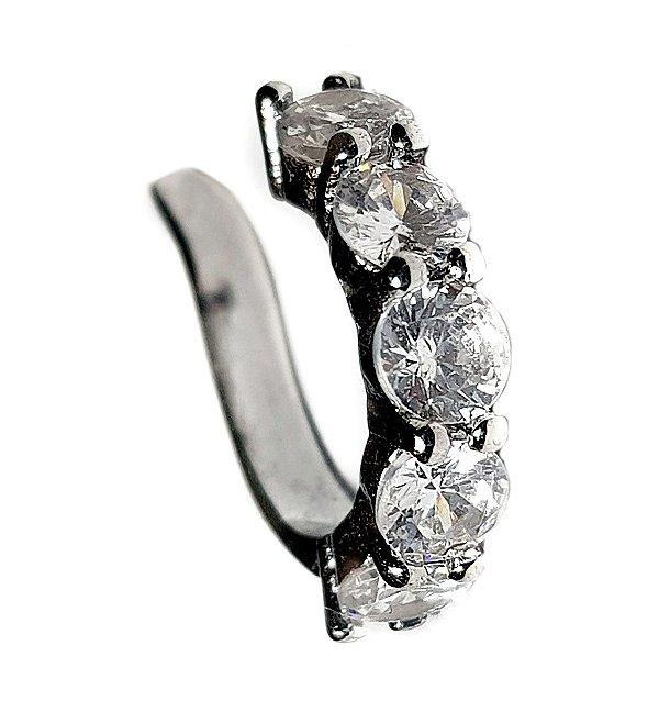 Piercing Diamond Rodio Negro