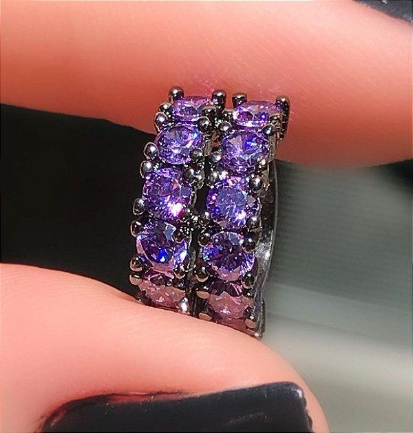 Piercing Diamond Duplo Tanzanita Rodio negro