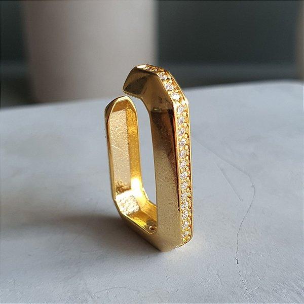 Brinco Piercing Érah Médio Gold Mistic